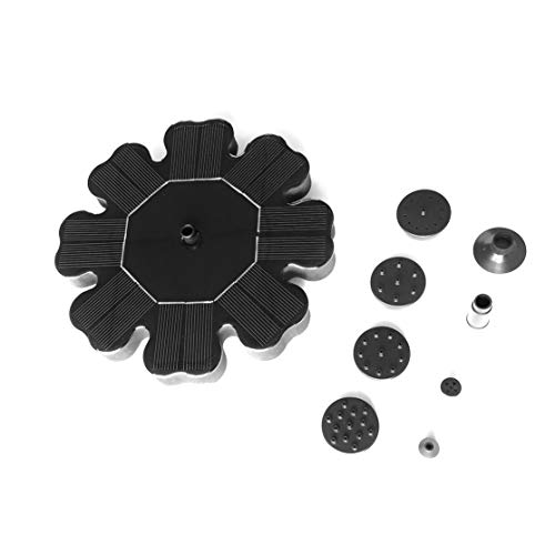 LouiseEvel215 Bomba de Fuente de energía Solar en Forma de Flor para riego de Piscina de jardín Bomba de Agua Sumergible de Panel Flotante con 4 boquillas