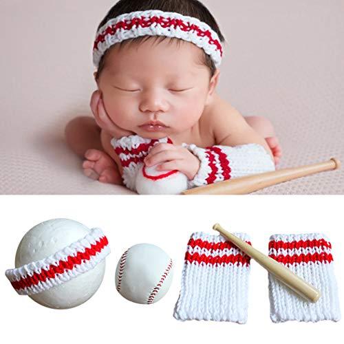 JUSTDOLIFE Baby Foto Prop Set Wolle Mode Säuglingsfotografie Prop Baby Fotoausstattung