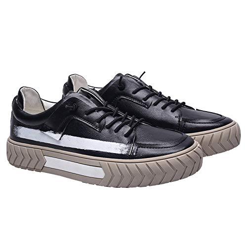 Xiezinb Sneakers voor heren, trendy bij vrijetijdsschoenen, met dikke zolen en witte sportschoenen, voor heren met lage snit