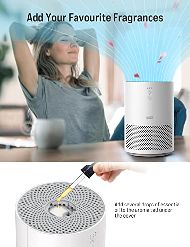 TOPPIN HEPA Air Purifiers for Home - with Fragrance Sponge UV Light, Eliminate Pollen Pet Hair Dander Smoke Dust Odors Airborne Contaminants for bedroom, Available for California