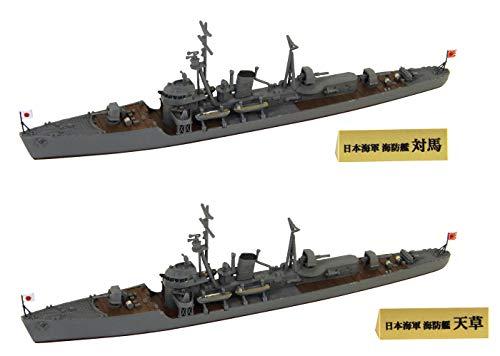 ピットロード 1/700 スカイウェーブシリーズ 日本海軍 択捉型海防艦 対馬・天草 2隻入 旗・艦名プレートエッチングパーツ 解説書付 プラモデル SPW71
