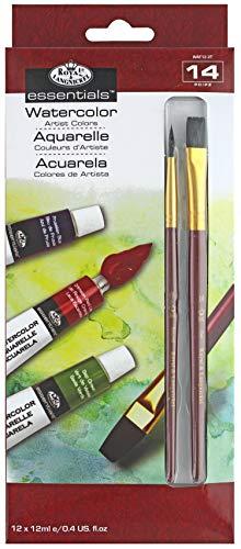 Royal & Langnickel - Set 12 tubetti di acquerelli e 2 pennelli