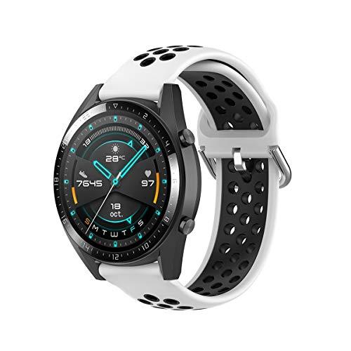 KOMI - Correa de silicona para reloj de 20 mm y 22 mm, para mujeres y hombres