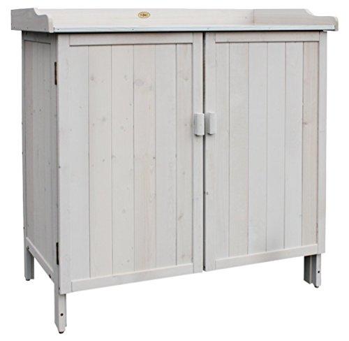 """HABAU Gartenschrank""""Lino"""" mit integriertem Pflanztisch, grau, 98 x 48 x 95 cm"""