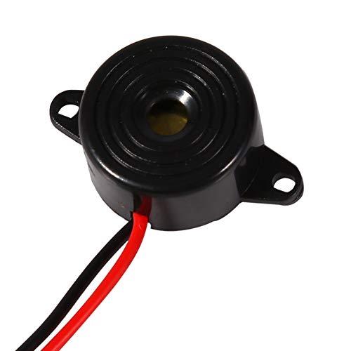 Buzzer Éléctronique, 3-24V Alarme Sonore Discontinue Alarme Électronique Buzzer Avertisseur d'Oubli de Phares avec la Longueur de Câble 100mm.