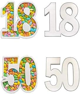 Contenitore Portaconfetti in Polistirolo con NUMERO PERSONALIZZATO cm 30 x 30