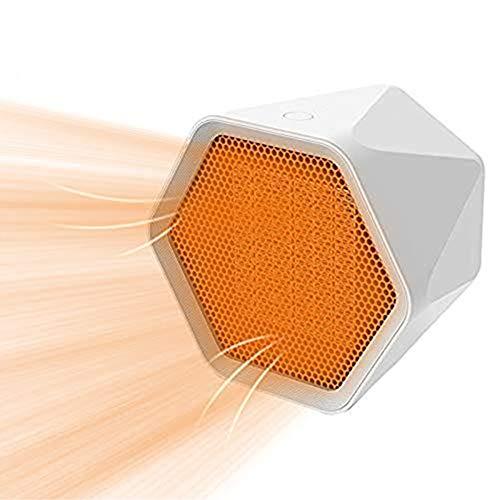 Decdeal Mini Termoventilatore Ceramico Silenzioso - Stufa Elettric Basso Consumo Portatile,3 Secondi di Calore Ritardante di Fiamma Protezione da Surriscaldamento