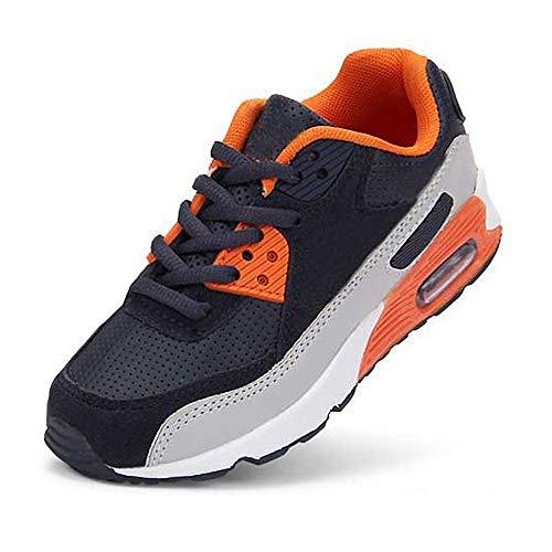 Daclay Kinder Schuhe Jungen Mädchen Turnschuhe Laufschuhe Sneaker Outdoor für Unisex-Kinder (29 EU, Navy/Orange)