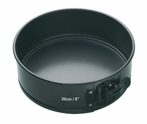 Kitchen Craft Master Class - Molde Redondo Desmontable, Acero, Negro, diametro de 20 cm