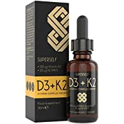 Vitamin D3 K2 Drops - 4000IU Vitamin D & 25mcg Vitamin K2 MK7 per 4 Drops - 30ml Liquid Adult Vit D Supplement - UK Made & Vegetarian - Natural Orange - High Absorption for Bones, Teeth, Immune System