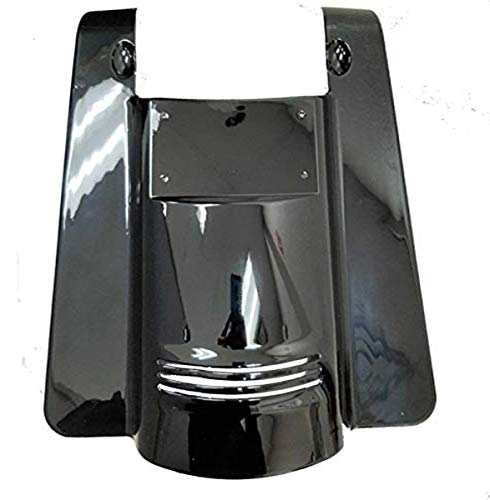 Bagger Brothers BB-HD1584-153-1 Vivid Black Tall Angled ABS Fender Extension With License Plate And Filler Panels For 2009-2019 Harley-Davidson Touring Models - No Cut-outs