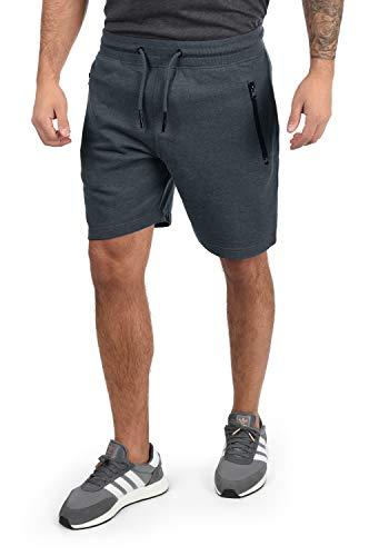 !Solid Taras Herren Sweatshorts Kurze Hose Jogginghose Mit Verschließbaren Eingriffstaschen Und Kordel Regular Fit, Größe:XL, Farbe:Insignia Blue Melange (8991)