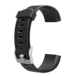 endubro Pulsera Repuesto para Fitness Tracker ID115 HR Plus (Negro)