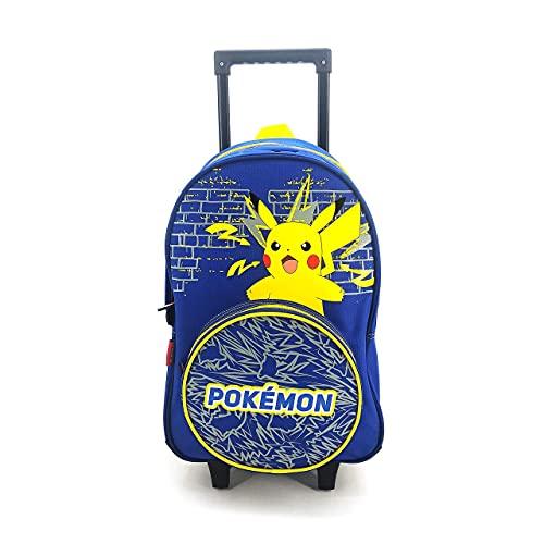 Mochila con ruedas con 2 compartimentos Pokemon azul marino Bagtrotter