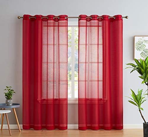 Cortinas rojas para sala