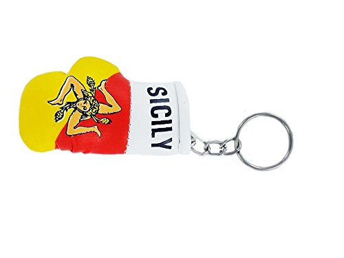 Schlüsselanhänger, Boxhandschuh, mit sizilianischer Flagge