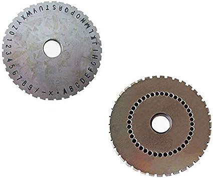 TECHTONGDA Character Wheel of Semi-Automatic Sheet Embosser 5mm