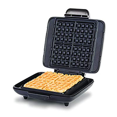 DASH DNMWM455SL NO- DRIP waffle maker, 1200 Watt, Silver