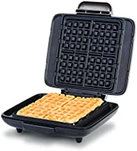 Dash DNMWM455SL Deluxe No-Drip Belgian Waffle Maker: Iron 1200W Machine + Hash Browns, or Any Breakfast, Lunch, & Snacks with Easy Clean, Non-Stick + Mess Free Sides, Silver