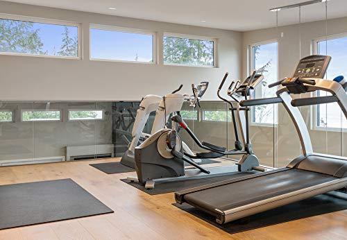 Dinoflex Rubber King Allzweck Fitnessmatte – Sport Matte und Bodenschutzmatte für Fitnessgeräte für Zuhause, als Yoga Matte oder für das Spinning Bike schwarz