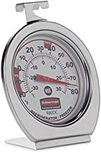 Rubbermaid Refrigerator Freezer Cooler Fridge Thermometer, Classic Large Mechanical Dial