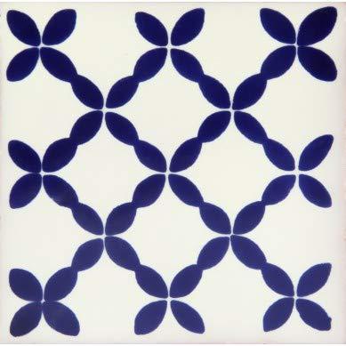 30 Azulejos mexicanos 10 x 10 cm Azulejos de cocina y baño de Talavera Decoración para baño, ducha, escaleras, cocina Azulejos de pared posterior Pegatinas Pintadas a mano (Esmeralda)