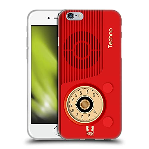 Head Case Designs Techno Radio Telefono Vintage Cover in Morbido Gel Compatibile con Apple iPhone 6 / iPhone 6s
