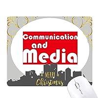 主要な通信とメディア・レッド クリスマスイブのゴムマウスパッド