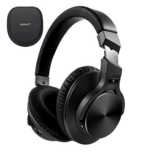 DOMAX NC70 Kabellose Kopfhörer mit Geräuschunterdrückung, Bluetooth 5.0, Typ C, Schnellladefunktion für 40 Stunden Spielzeit, CVC 8.0, Schwarz NC70