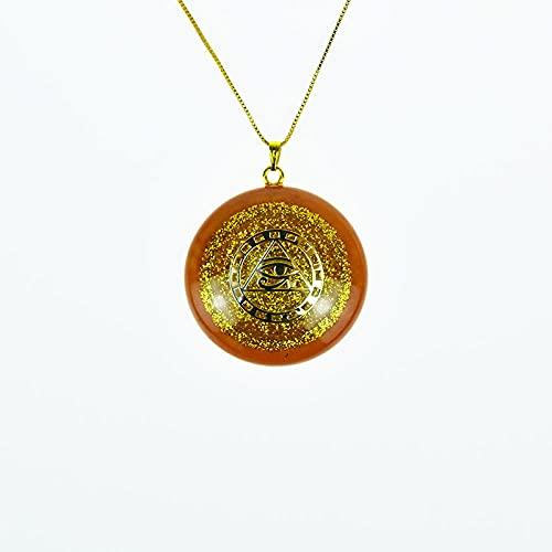 Joyas de resina de cristal natural del colgante de la energía de Orgon Chakra Curación Colgantes de curación-Ojo de Horus
