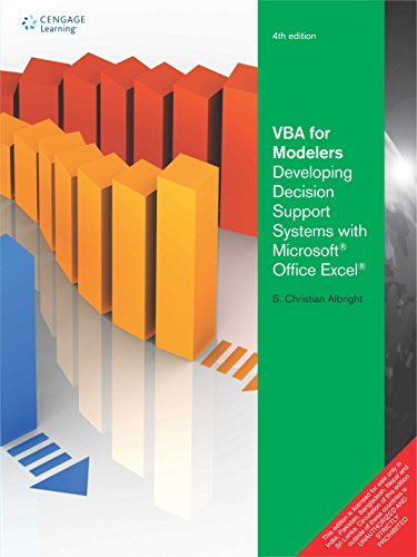 Vba For Modelers: Developing Decision Support Systems With Microsoft Office Excel, 4Ed