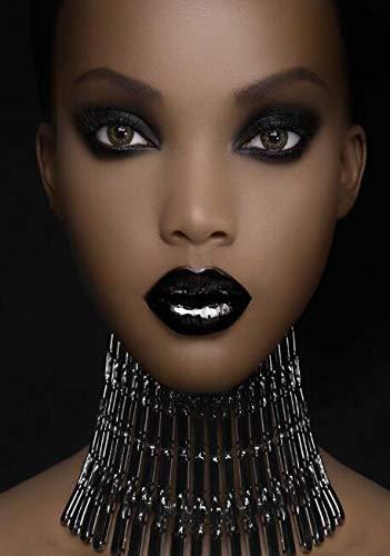 Afrikanisches Modell Wandkunstdruck Make-up schwarzes Mädchen Leinwand Malerei Poster und Drucke an der Wand moderne Leinwand Bild Wand rahmenlose dekorative Malerei Z20 30x40cm