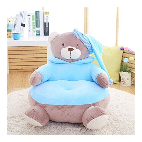 WJTMY Stofftier Lagerung Bean Bag - Große Sitzsack Stühle for Kinder Plüschtiere Halter und Organisator for Mädchen-Baumwollsegeltuch-Abdeckung (Color : B, Size : 45 * 45 * 55cm)