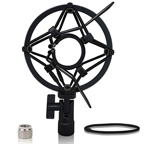 Boseen Microphone Shock Mount Mic Holder - Mic Clip Holder Mount for Diameter 28mm-32mm Dynamic Microphone Like ATR2100-USB AT2005-USB Samson Q2U Behringer Xm8500 Shure SM58-LC Shure PGA48 PGA58 etc.