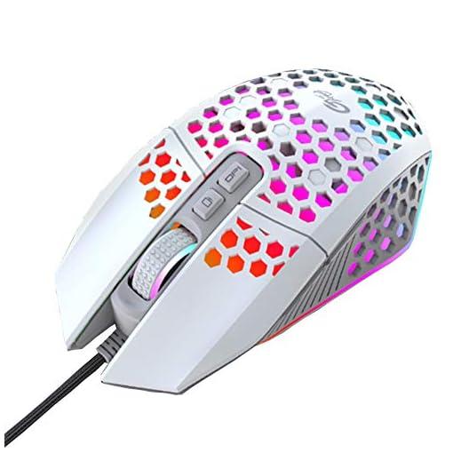 EasyULT Ratón Gaming con Cable, Ratón programables Iluminación RGB, 8000 dpi, 6 dpi Ajustable, Ultraligero Revestimiento… 1