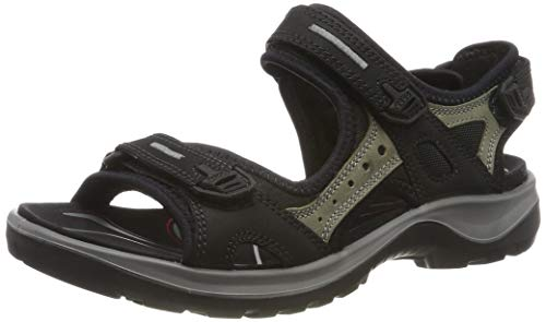ECCO Women's Yucatan Outdoor Offroad Hiking Sandal (Colour: Mole and Black)