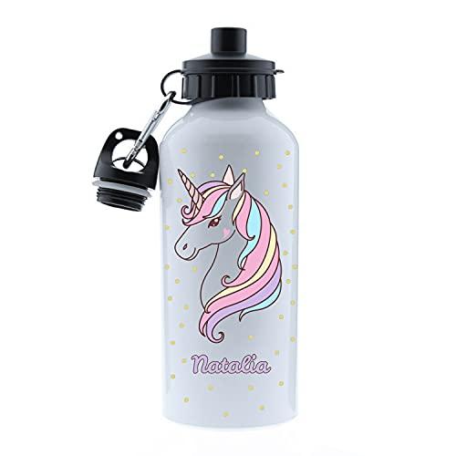 Kembilove Botella Agua Niños – Botella acero inoxidable Infantil Personalizada – Kembilove Botella Agua Niños – Botella acero inoxidable Infantil Personalizada – Regalos Personalizados Unicorn