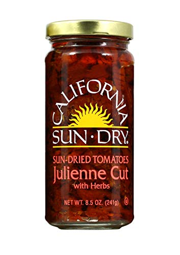 California Sun Dry Sun-dried Julienne Cut Tomatoes with Herbs 8.5 Oz (Pack of 2)