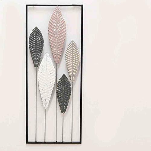 Shophaus24 Wanddeko Ornament Blätter, Metall, Wandbild. Höhe 51 cm. Lieferung: 1 Stück