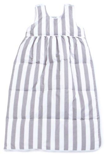 Tavolinchen 40/105-206-90 - donzen slaapzak strepen breed wit-grijs, maat 90 cm
