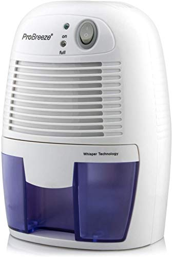 Pro Breeze 500ml Compact and Portable Mini Air Dehumidifier for Damp, Mould, Moisture in Home, Kitchen, Bedroom, Caravan, Office, Garage, Bathroom, Basement