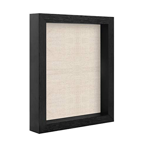 8x10 Shadow Box Frame Display Case for Pins,Medals,Pictures,Memory Box,Black