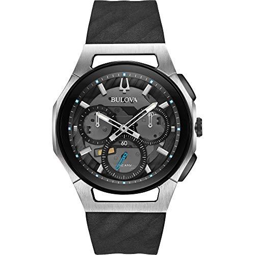Bulova Orologio Cronografo Quarzo Uomo con Cinturino in Gomma 98A161