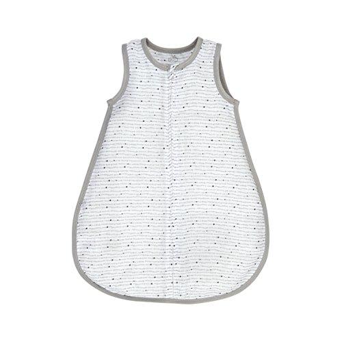 Noukies Mix & Match Schlafsack aus Bambus, Hellgrau/Weiß, 50 cm