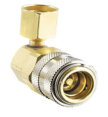 FJC 6006 14mm x 1.5' 90 Degree R134A Low Side Quick Coupler