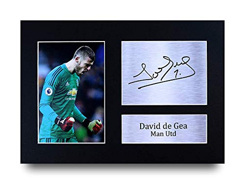 Hwc Trading David De Gea Gift Signed A4 Printed Autograph Manchester United Gifts Print Photo Picture Display