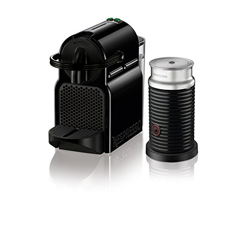 Nespresso Inissia Espresso Machine Bundle with Aeroccino Milk Frother by De'Longhi