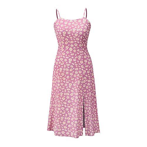 yanghuakeshangmaoyouxiangong 2020 FrüHling Und Sommer Neue HosenträGer Hohe Taille Sexy Blumen Kleines GäNseblüMchen Kleid