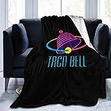 LUCKY Home Taco Bell Coperta Morbida Comoda Sottile Calda Flanella Stampa Anti-Pelucchi 4 Stagioni