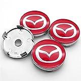 RHGEIUCY Cubierta para Wheel Luxury 4pcs 60mm Car Mazda Logo Center Center Hub Caps Caps Caps Hub para Mazda- 2 3 6 MX-5 MX-30 CX-3 CX-8 CX-9